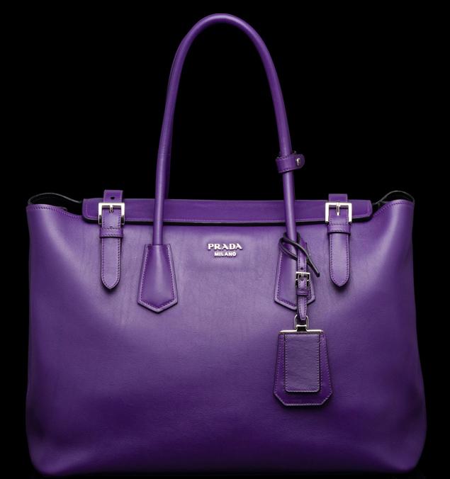Prada-Buckle-Saffiano-Tote-purple