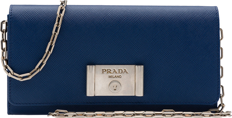 Prada-Saffiano-Lock-leather-flap-wallet-on-chain-3