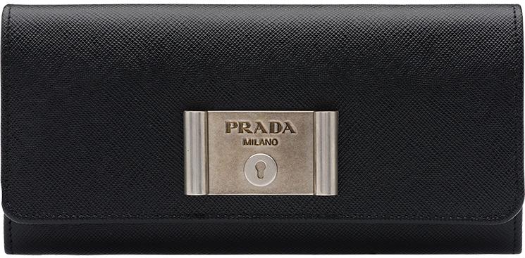 Prada-Saffiano-Lock-leather-wallets