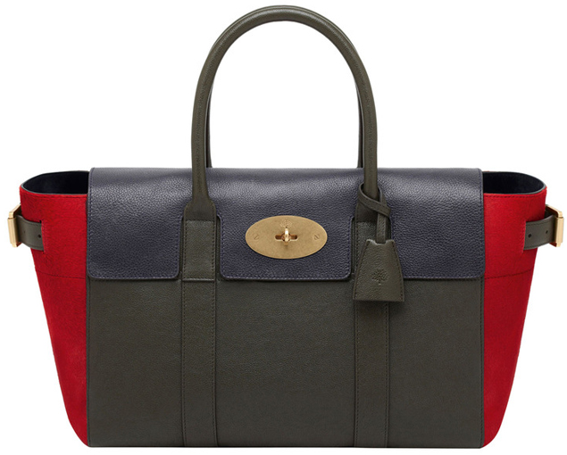 Mulberry-Bayswater-Buckle-Bag-Midnight-Blue-&-Evergreen-Polished-Buffalo-With-Poppy-Red-Haircalf