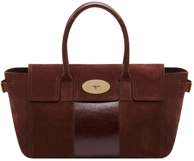 Mulberry-Bayswater-Buckle-Bag-Oxblood-Suede-With-Calf-Stripe