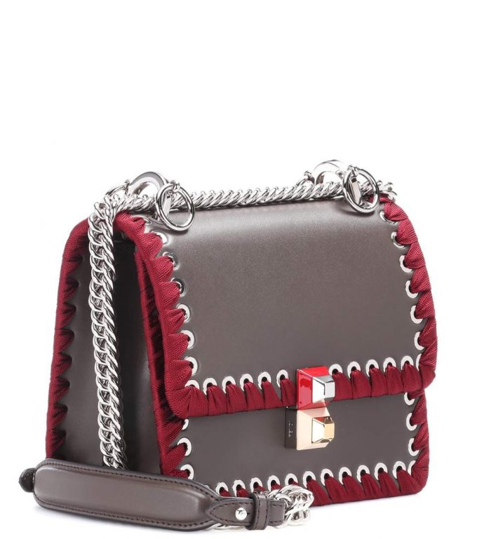 40038f8fac96 Fendi Kan I Small leather shoulder bag - Popular Prada Handbags ...