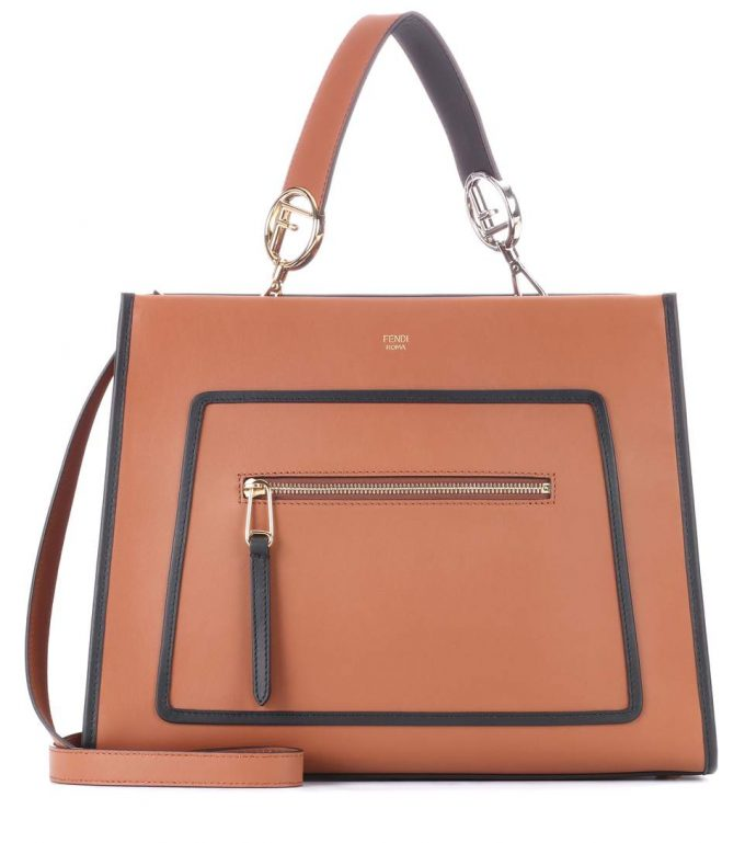 2a7b6eace86d Fendi Runaway leather shoulder bag - Popular Prada Handbags Replica ...