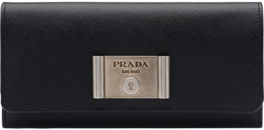 Prada-Saffiano-Lock-leather-wallets