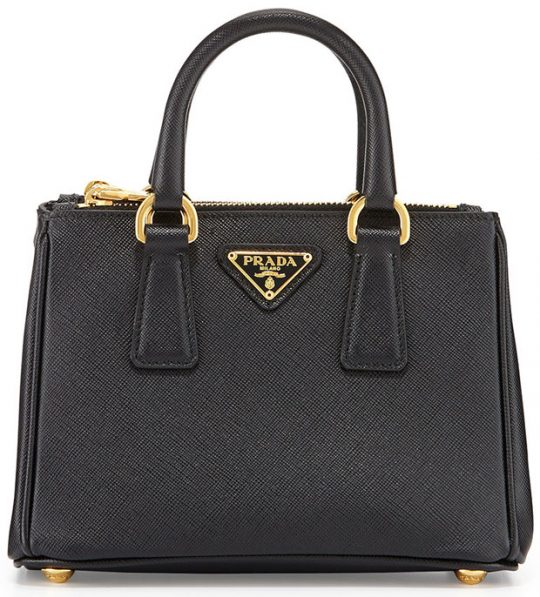 Prada-Saffiano-Mini-Galleria-Bag-Black