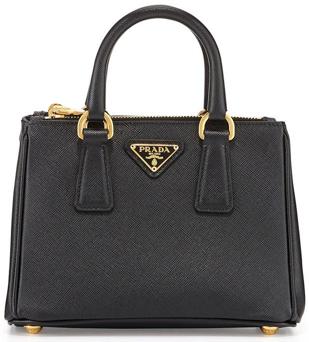 Prada-Saffiano-Mini-Galleria-Bag-Black